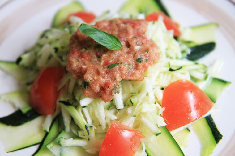 pasta-alla-checca-zucchini-salad